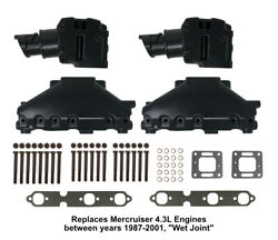 4.3l Mercruiser Exhaust Manifold And Elbow/riser Kit. Replaces 99746a17, 807988a03