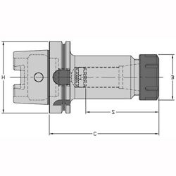 Hsk40a Er11 Collet Chuck 2.5 Projection Balanced To G6.3 At 12000 Rpm