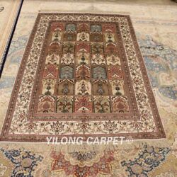 Yilong 4and039x6and039 Four Seasons Hand Made Silk Area Rugs Interior Bedroom Carpets 320b