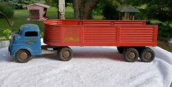 Vintage Structo Toys Steel Cargo Company Semi Truck And Trailer