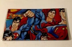 Retro Superman Checkbook Cover Custom Handmade Gift For Him Lined $7.00