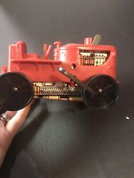 Tractor - Parts Or Restoration Wind Up Tin Toy Red.windup Tractor Red Vintage