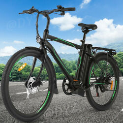 26 Electric Cruiser Bike Mountain Bicycle Removable 10ah Battery W/ Back Seat