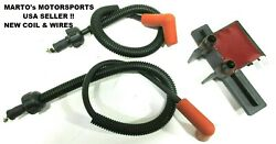 New Oem Polaris 1996-2004 Slh Virage Freedom 700 Jet Ski Igntion Coil And Wires