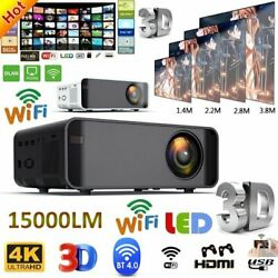 15000 Lumens 3d Led Full Hd 1080p Home Theater Projector Hdmi Usb Video Portable
