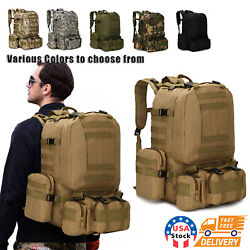 60L Outdoor Military Molle Tactical Backpack Rucksack Camping Bag Travel Hiking $27.98