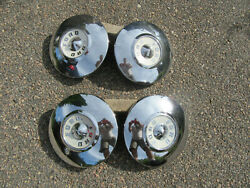 1955 1956 Ford Dog Dish Poverty Hubcap 10 1/2 Mainline Sunliner Customline