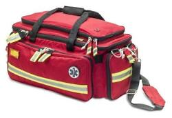 Advanced Life Support Emergency Bag, Red Color Eb02.010 - Padded Handle