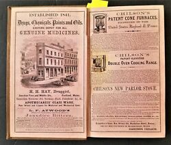 C1862 Antique Business Directory For Maine Genealogy Awesome Ads