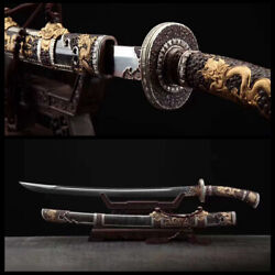 Genuine Ray Skin Wrapped Folded Steel Blade Chinese Sword Tenglong Qing Dao
