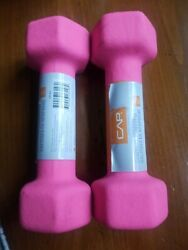 3 Sets Of 2 -3lb Dumbbell Weights Of 2 Cap Hex Neoprene Weights New 6 Totals