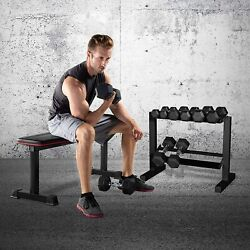 Two Tier Dumbbell Rack Weight Storage Strength Training Fitness Sport Room