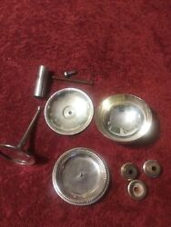 A Lot Of Knick Knacks Vintage Silver Plated Parts Four Candle/wine Gobletparts