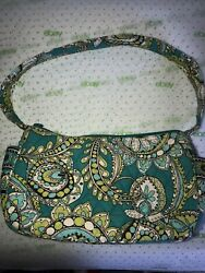 VERA BRADLEY Paisley Peacock Hobo Small Bag Purse Retired Teal Blue Green $5.99