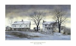 Farm Landscape Art Print End Of The Day By Ray Hendershot Poster 22x36