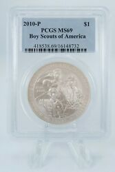 2010-p Pcgs Ms69 Boy Scouts Of America Silver Dollar Business Strike 1