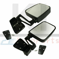 Pair Black Side View Mirror Manual Left Right For 1987-2002 Jeep Wrangler Truck