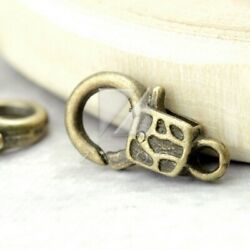 20pcs Antique Brass Lobster Claw Clasp Jewelry Craft Findings Free Shipping
