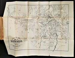 1899 Antique Lowell Ma Directory With Map Genealogy Names Street Business Ads