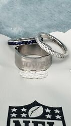 Dallas Cowboys Women's Sterling Silver 3 Piece Ring Set Size 9 New