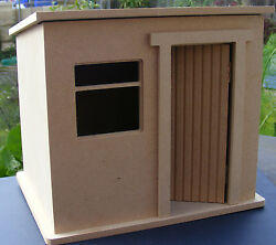 124 Scale Small Flat Pack Mdf Wooden Shed Kit Tumdee Dolls House Miniature