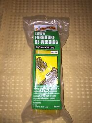 Frost King Lawn Furniture Re-webbing Vintage Yellow New Old Stock Sealed In Pkg