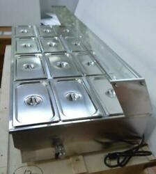 Hot Sale 110v 12-pan Commercial Stainless Steel Bain-marie Buffet Food Warmer