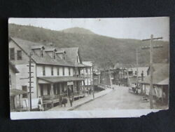 1908 Potter County Ghost Town Cross Fork Pa Kirk House Hotel Real Photo Postcard