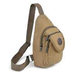 Westend Tan Crossbody Canvas Sling Bag Backpack with Adjustable Strap $15.29