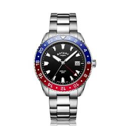 Rotary Henley Gmt Red/blue Ss Watch Gb05108/30 Rrp Andpound225.00 Our Price Andpound179.95