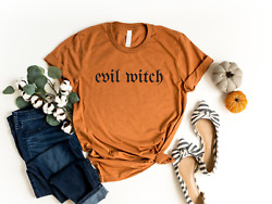 Evil Witch Shirt Halloween Shirts women Unisex fit Witch T shirt Graphic Tees $22.99