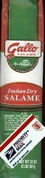Gallo 2 Pounds Italian Dry Salame Salami Freshest Fast Free Priority Shipping