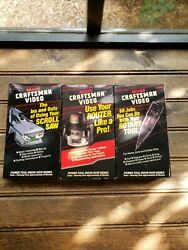 Lot 3 Vhs Craftsman Video Ins And Outs Documentary Saw, Router And Rotary Tool
