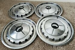 Set Of 4 Used 1957 Chevrolet Hubcaps