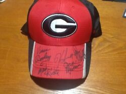 Georgia Bulldog Hat Signed By Every Uga Football Coach From Dooley To Smart