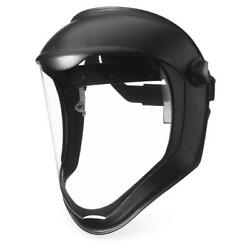 Uvex S8510 Bionic Face Shield With Black Frame And Clear Anti-fog Shield
