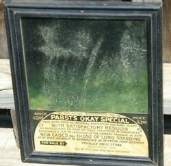 Antique Advertising Mirror Pabst Okay Special For Vd - Madisonville Tennessee