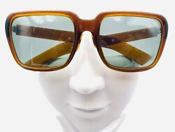 Vintage Cool Ray Polaroid Pantomime Brown Square Sunglasses Frames $37.40
