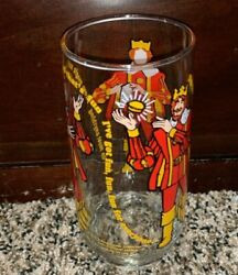 Vintage 1979 Burger King Collector Series Glass Cup Glass Drinking Cup Bk