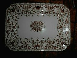Vtg T And R Boote Brown Transferware Large Serving Tray Platter - Tournay 33645