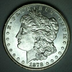 1878 Cc Morgan Silver P/l Dollar Coin 1 Us Carson City Minted Proof Like Unc