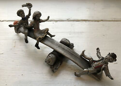 Hudson Pewter Villagers 7617 Seesaw Margery Daw Limited Edition New Without Tag