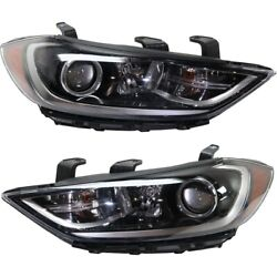 Hid Headlight Lamp Left-and-right Hid/xenon Hy2503207 Hy2502207 Lh And Rh