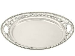 Sterling Silver Galleried Drinks Tray - Antique Victorian 1879