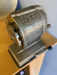 Boston Vintage Desk Pencil Sharpener Vacuum Mount Hunt Manufacturing Co USA