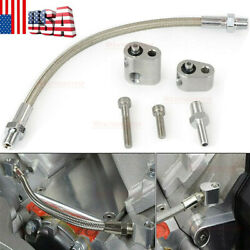 Coolant Steam Port Crossover Ls Throttle Body Bypass Hose Kit Ls1 Cylinder Head