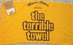 Pittsburgh Steelers Officially Licensed Throwback Terrible Towel Tag Attached