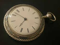 Verge Fusee Silver Quarter-repeater Large 67 Pocket Watch