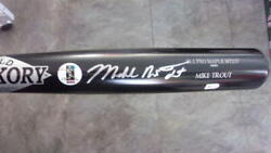 Mike Trout Los Angeles Angels Signed Full Name Game Model Bat Mlb Authenticated