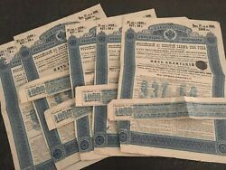 Russia - X6 Imperial Russian Government Bonds 1891 - 625 Rubels